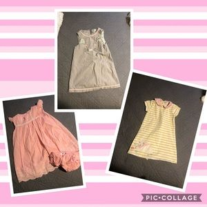 Mini Boden Lot of 3 Dresses ~ 2-3T